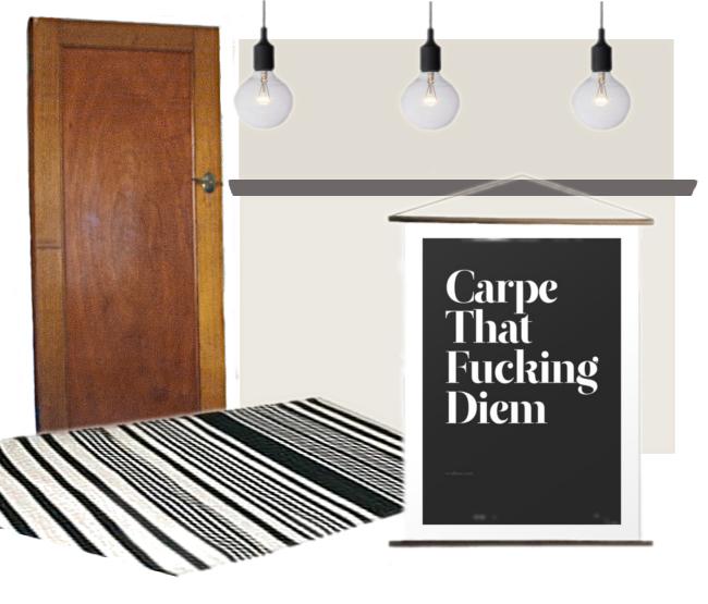 hallway moodboard