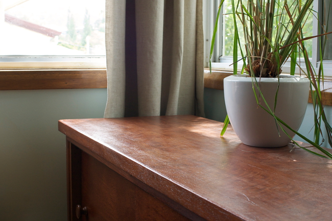 finished cabinet sill