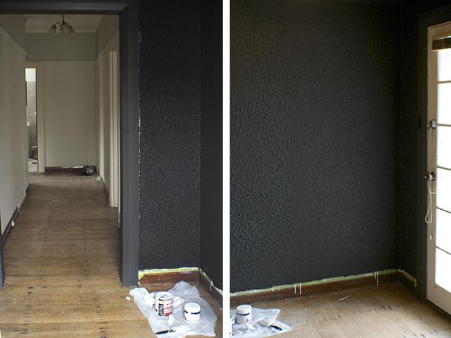 black paint entry