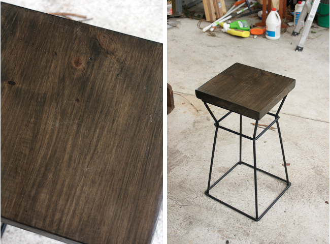 finished deck stool