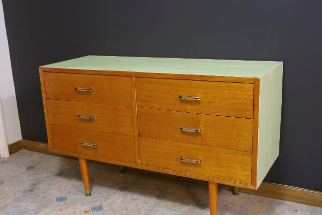 retro dresser w/ mint green