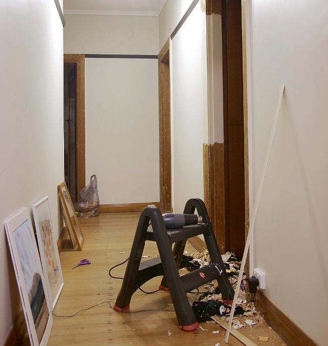 stripping door frames - progress