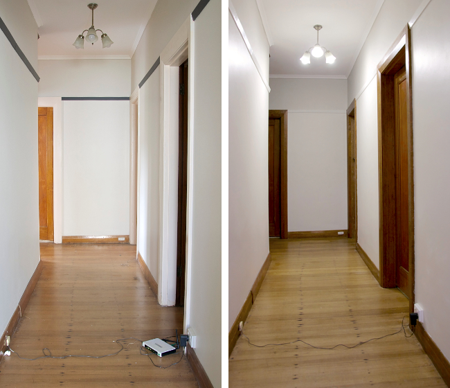 hallway doors before after