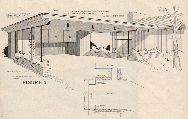 Australian house and garden 1965 saltbush avenue for Modern carport designs plans