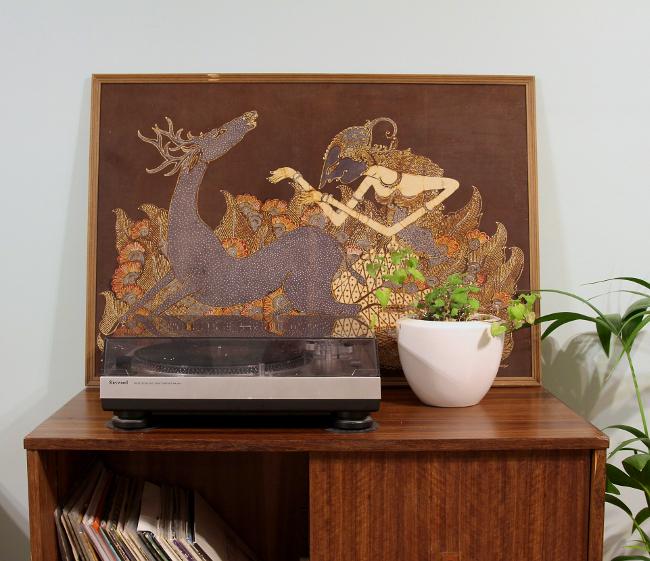 record cabinet decor