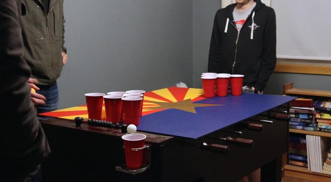 AZ flag beer pong