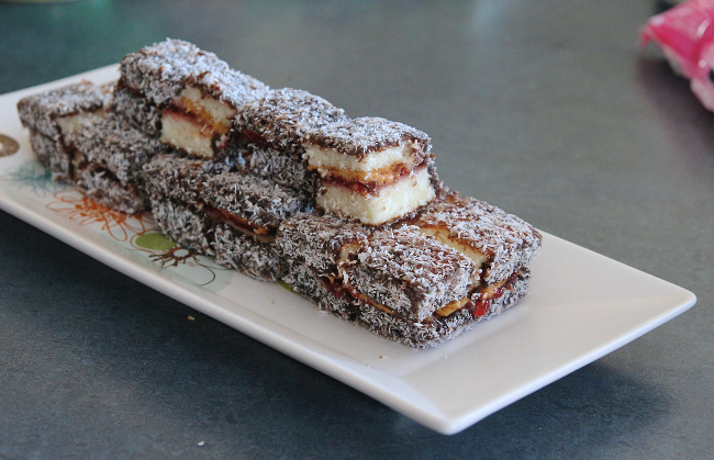 PB&J lamingtons