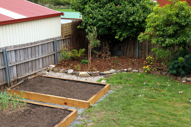 Rebuilt garden beds