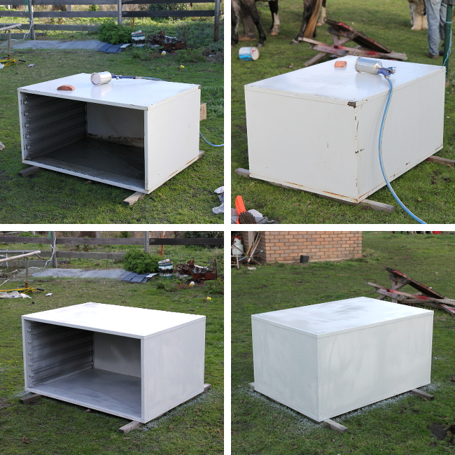 Painting the cabinet shell