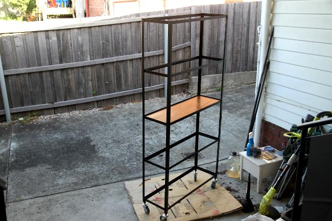 Steel shelf progress