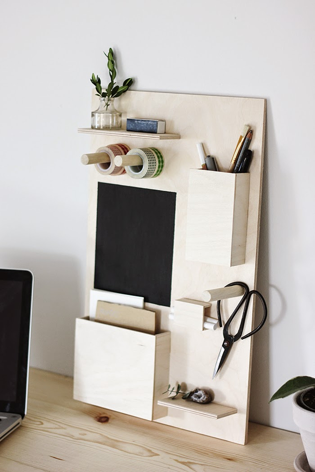 DIY desk organiser (The Merrythought)