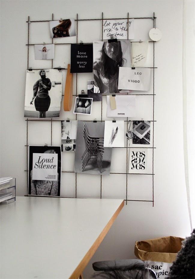 Stil Inspiration - mesh grid for postcards