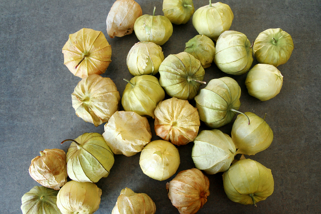 Tomatillos in husks