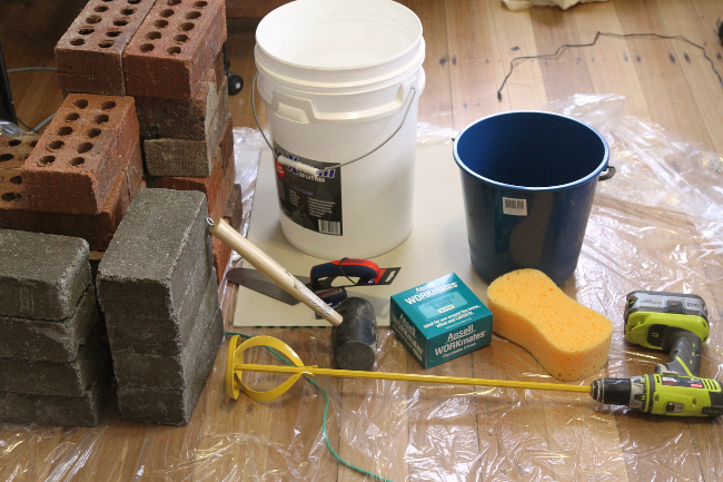 Bricklaying materials