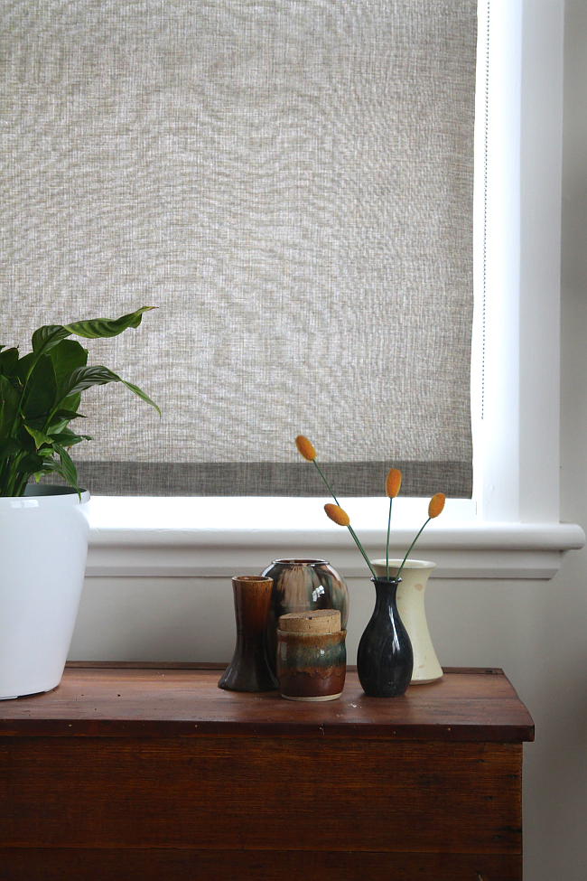 DIY linen fabric blind