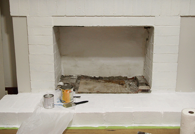 Fireplace plastering