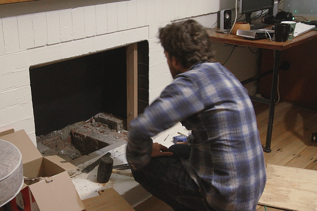 Fireplace frame building